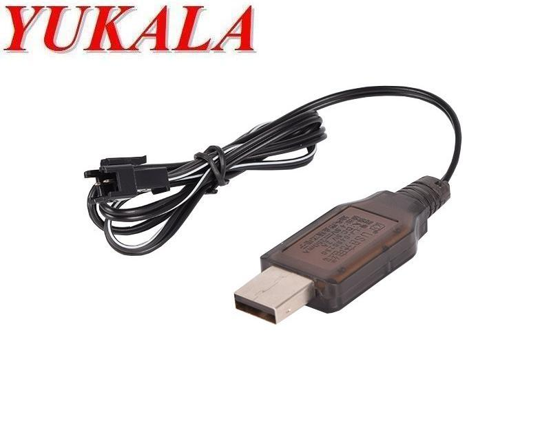 YUKALA USB charger cable for 4.8V Ni-CD 4.8v Ni-MH battery with SM 2P plug 2pcs/lot