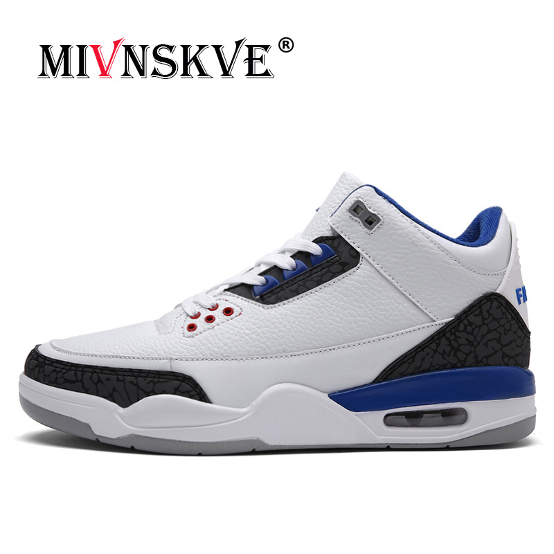 MIVNSKVE New 2018 Basketball Shoes Mens Shoes PU Leather Basketball Shoes Male Sneaker Outdoor Athletic Combat Boots Sport Shoe