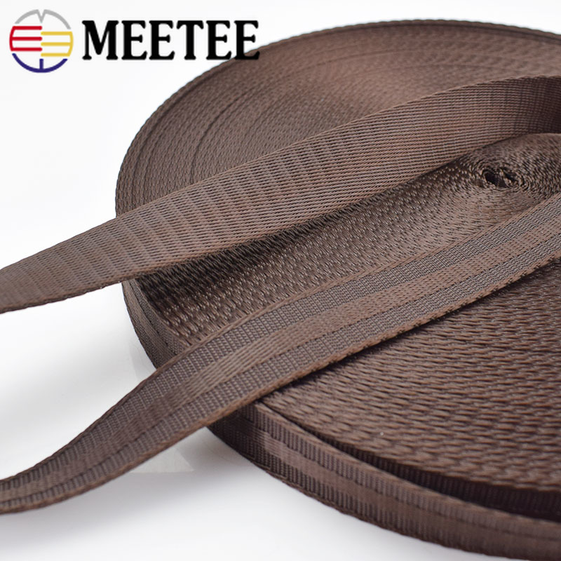 Meetee 5Meters 25 38mm Polyester Nylon Webbing Tapes DIY Safety Seat Backpack Pet Strap Belt Strapping Bias Binding Tapes in Webbing from Home Garden