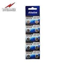 10pcs/lot Wama AG8 1.5V Alkaline Button Cell Batteries LR55 LR191 LR1120 381 Disposable Watch Coin Battery стоимость