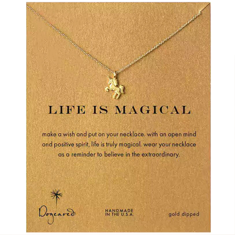 Fashion Unicorn Pendant Necklace For Women Exquisite Women Unicorn