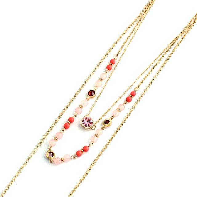 Купить chicvie ожерелья из натурального камня хрустальные бусы очаровательный