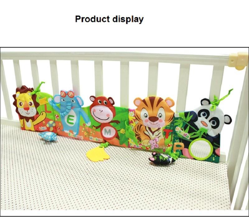 Infant Activity Book Cartoon Animal Soft Baby Educational Toy Cloth Book Plush Animal Story Intelligence Developing Toy KF030 7