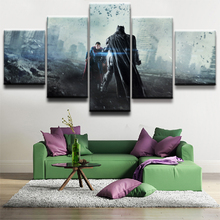 Batman Superman Science Fiction Movie Paintings on Canvas Wall Art for Home Decorations Decor HD Print 5 Piece