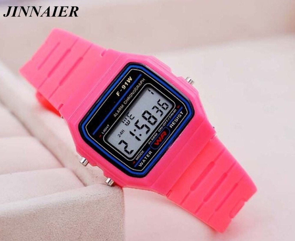 10pcs/lot Newest Hot Sales Sports LED Electronic Silicone Women Men Activity Watch Multi-function Ultra-thin Alarm Clock Watch