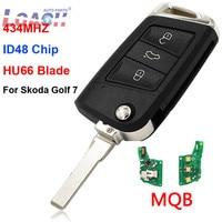 Upgraded Remote Key 434MHz ID48 Chip for VW MQB Golf VII 7 MK7 Skoda Octavia A7