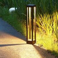 Thrisdar Outdoor Waterproof Courtyard Lawn Lamp Creative landscape Pathway Lawn Pillar Lamps Villa Garden Stand Bollard Light
