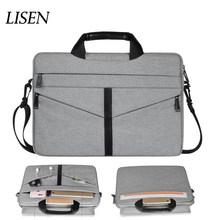 Противоударная нейлоновая сумка через плечо для Xiaomi Mackbook Air 13 14 15 15,4 15,6 чехол для ноутбука Женская Мужская сумка для ноутбука