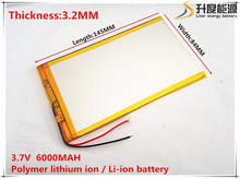 3.7V,6000mAH,[3284145] Polymer lithium ion / Li-ion battery for tablet pc,GPS,cell phone;POWER BANK,MP4,SPEAKER