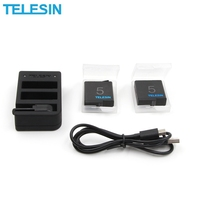 TELESIN 3 Slots Sports Remote Control Camera Battery Charger for Gopro Hero 5 4 3 for Action Sport Camera Accessories