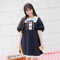 Soft Sister LOLITA Maid Cross Heart Embroidery Maid Dress Darkly Lolita Dress Female Adorable Girl Loose