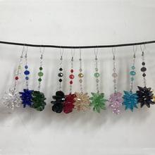 1 sztuk Chakra szkło bryła kryształowa Suncatcher części żyrandol pryzmat wisiorek wiszące ślub dekoracja domu tanie tanio Miłość WQM YXT FENG SHUI
