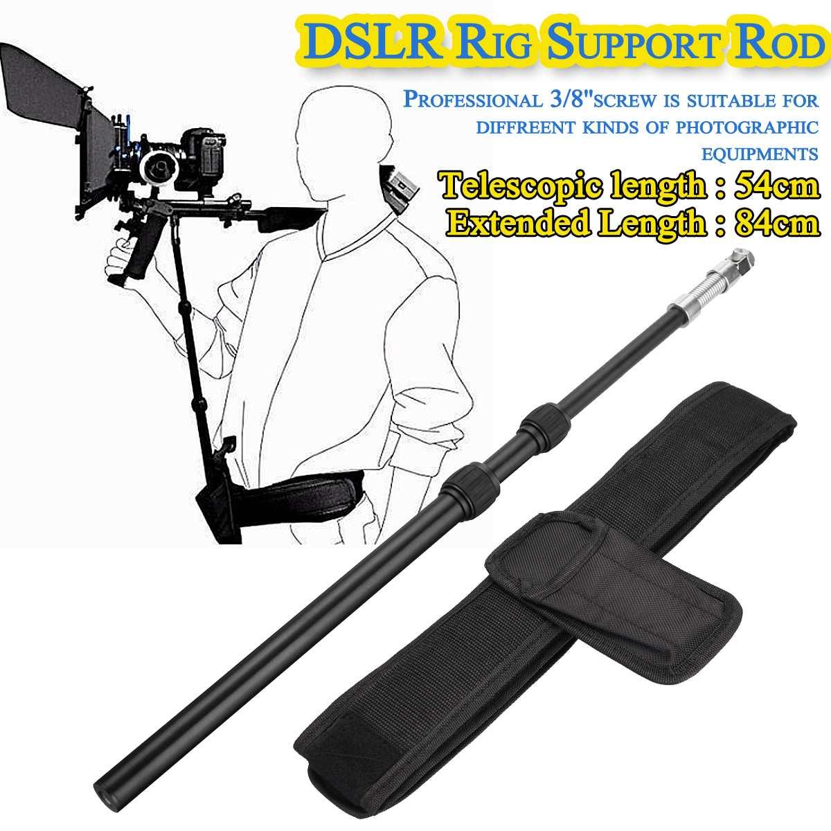 DSLR Rig Support Rod/ Belt fit Shoulder Mount Video Camcorder Camera DV/DSLR New Action Camera Accessories