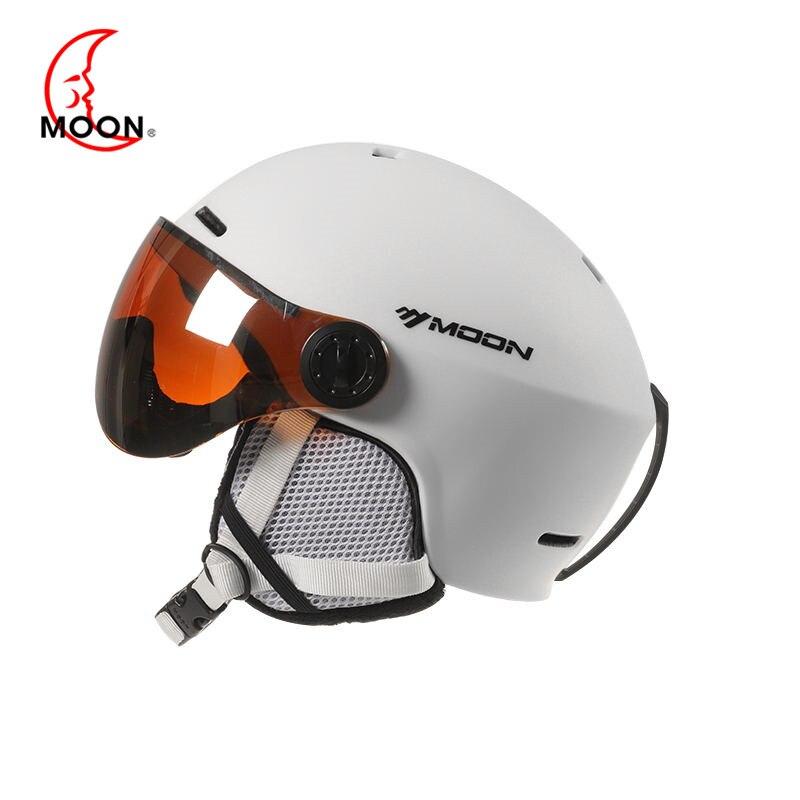 Lune Lunettes casque de Ski Moulée Intégralement PC + EPS CE Certificat casque de Ski Sports de Plein Air Ski Snowboard Casques de Planche À Roulettes - 2