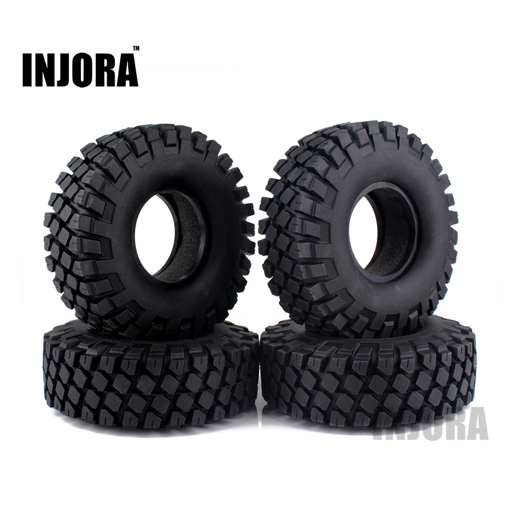 4PCS 114MM 1.9 Rubber Rocks Tyres / Wheel Tires for 1:10 RC Rock Crawler Axial SCX10 90046 RC4WD D90 D110 TF2 Traxxas TRX-4