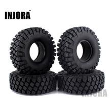 "4PCS 114MM 1.9"" Rubber Rocks Tyres / Wheel Tires for 1:10 RC Rock Crawler Axial SCX10 90046 AXI03007 Traxxas TRX 4"