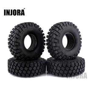 "Image 1 - 4PCS 114MM 1.9"" Rubber Rocks Tyres / Wheel Tires for 1:10 RC Rock Crawler Axial SCX10 90046 AXI03007 Traxxas TRX 4"