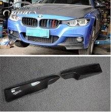 цена на OLOTDI F30 M-TECH Carbon Fiber auto front bumper Splitter spoiler apron lip fits:2012 UP F30 M-TECH bumper