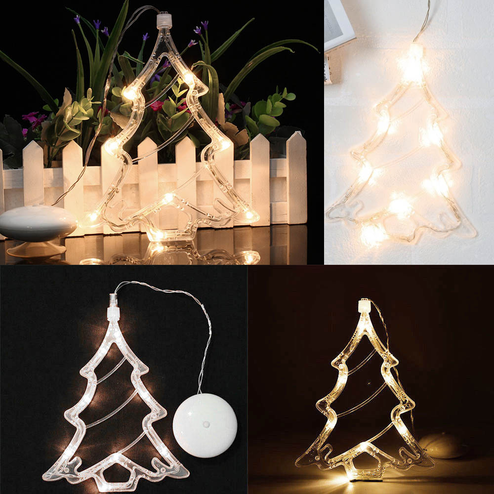 8leds Sucker Window LED Light Smooth Surface Holiday Indoor Decoration Light For Living Room Bedroom Christmas Tree Wedding