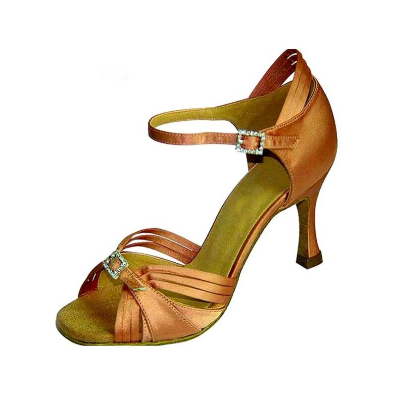 Zapatos de baile Latino o tan bronce púrpura 7.3 cm tacones profesional de  Latino danza Zapatos mujeres con cristal hebilla l 036 en Zapatillas de  baile de ... f2e5713725a1