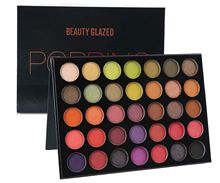 Beauty Glazed Colorful Yourshadow Palette Shimmer Matte Eyeshdow Pigment Glitters Makeup Sunset EyeShadow Rose Cosmetics