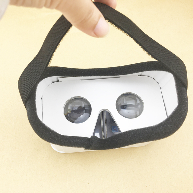 Data Frog DIY Portable Virtual Reality Glasses Google Cardboard 3D Glasses VR Box For SmartPhones For Iphone X 7 8 VR 2