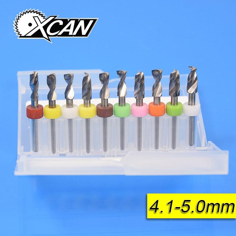 Envío libre 10 unids 4.1mm-5.0mm import carburo brocas para PCB de circuito mini CNC de perforación para madera Herramientas