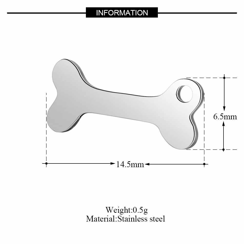 10 個ペット犬の足チャーム卸売 100% ステンレス鋼 AAAAA 品質ペンダント変色しないリアル 316 鋼 Diy チャーム