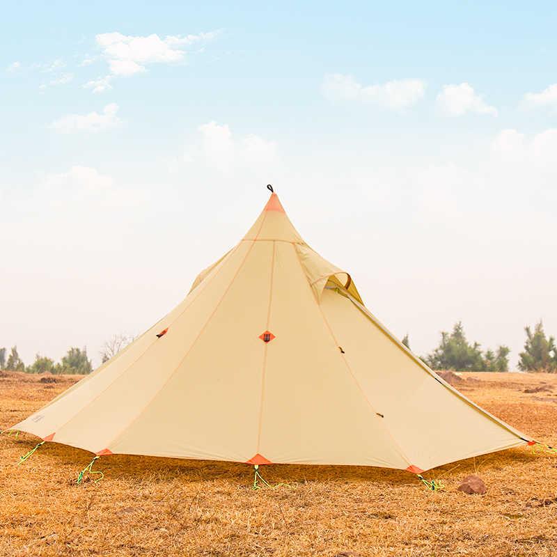ASTAGEAR finst śnieg 2 boczne 20D silnylon ultralight ASTA piramida na zewnątrz 1/2 osoby 2 warstwy 3 sezony namiot kempingowy