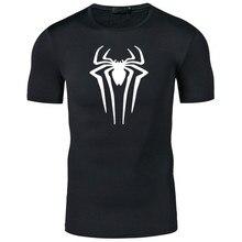 Film Superhero Spiderman Print T Shirts Men Short Sleeve Sum