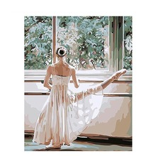 Frameless Ballet Dancer Press Leg Pictures Painting By Numbers DIY Digital Oil On Canvas Home Decoration Wall Art
