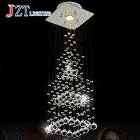 T Luksusowe Kryształ światła Proste Kreatywnych Nowoczesny wisiorek światło w Salonie Na Schodach Prostokątna & Length20Height74cm Piramida 3 W