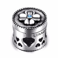 GNPZ352 L New 925 Sterling Silver Custom Photo Bead Charms Bracelet Beads For Jewelry Making Jewelry