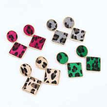 Leopard Geometric Multi-layer Earrings Women Fashion New Bohemian Wedding Gifts korean earrings