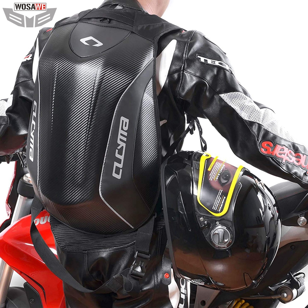 CUCYMA Motorcycles Bags Backpack Carbon Fiber Breathable Motocross Racing Knight Hiking Camping Computer