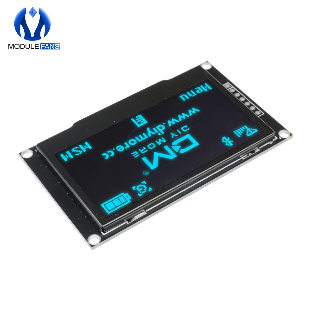 "Image 2 - BLUE 2.42"" Digital LCD Screen 12864 128X64 OLED Display Module C51 Board For Arduino SSD1309 STM32 Diy Electronic 2.42 inchLCD Modules   -"