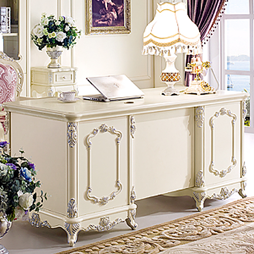 Free Shipping French Style Desk Fashion Study Furniture White Office