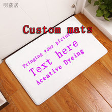 40x60cm Custom mat anti-slip carpet printed your design picture photo, Flannel Floor customized Carpet for Bath Door Living Room(China)