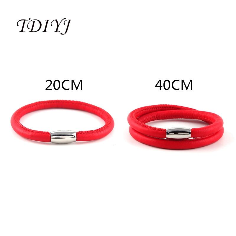 Tdiyj New Arrival European And American Style Red Genuine Sheepskin Leather Bracelets For Women Jewelry 5pcs/lot Attractive Designs; Bracelets & Bangles