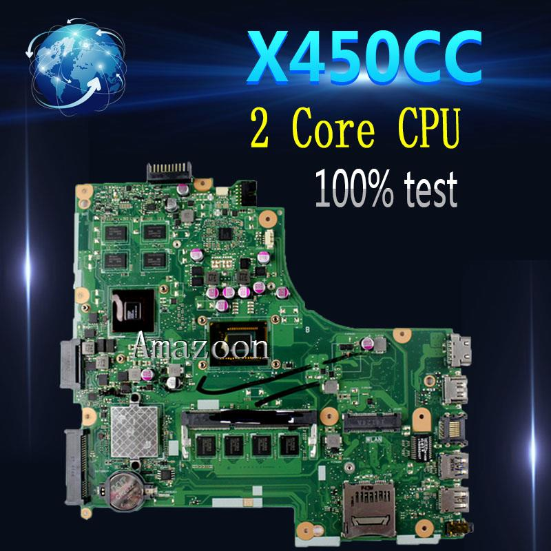 Amazoon  X450CC Laptop motherboard for ASUS X450CC X450C X450 Test original mainboard 2 Core CPUAmazoon  X450CC Laptop motherboard for ASUS X450CC X450C X450 Test original mainboard 2 Core CPU