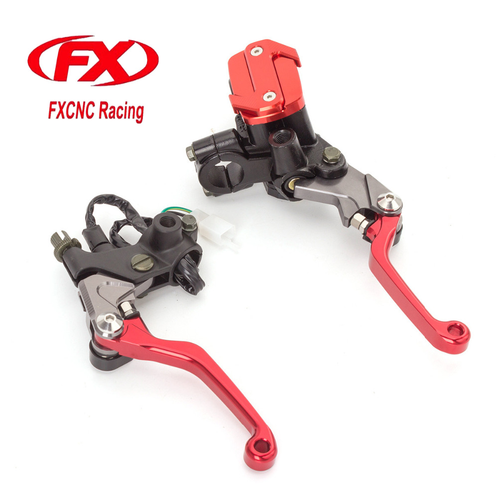 FX 7/8 50-550cc Dirt Pit Bike Motocross Brake Clutch Lever Master Cylinder Reservoir For Honda NX250 1991 - 1992 Motorcycles cnc 7 8 for yamaha yz250f 2009 2014 motocross off road brake master cylinder clutch levers dirt pit bike 2010 2011 2012 2013