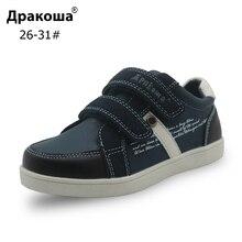 Apakowa Boys Spring Autumn Shoes Pu Leather Kids Ankle Casua