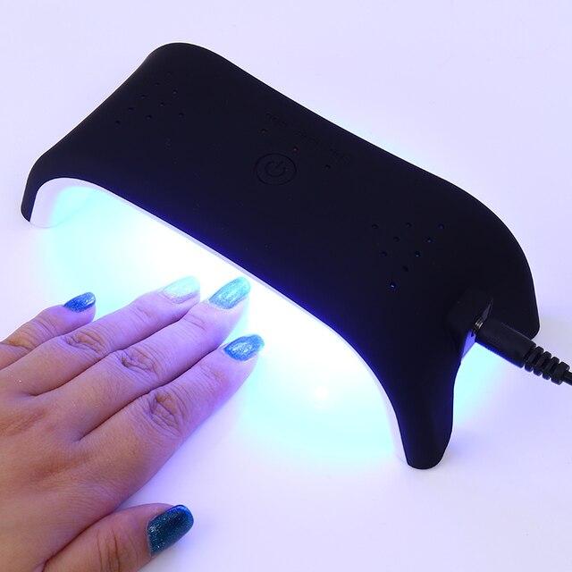 Aliexpress.com : Buy 12W LED UV Nail Dryer Portable Mini USB Black ...