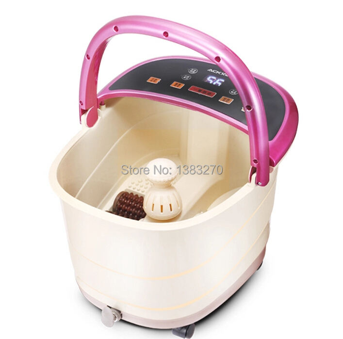 Electric heated foot basin detox foot spa, foot spa detox machine, foot massage machine electric antistress therapy rollers shiatsu kneading foot legs arms massager vibrator foot massage machine foot care device hot