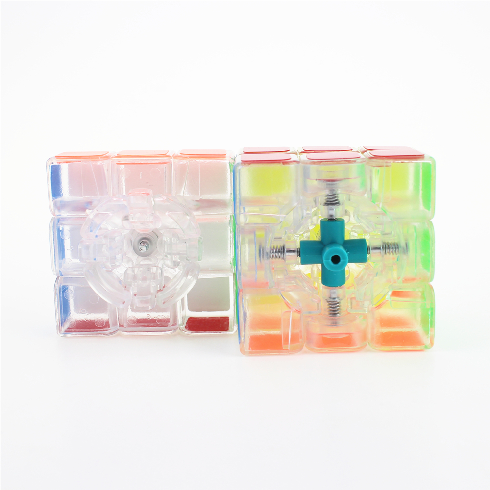 Купить с кэшбэком 3x3x3 Zcube Transparent Magic Cubes Puzzle Cubes Transparent Cube Smooth Sticker Educational Toys for Children ZC33101