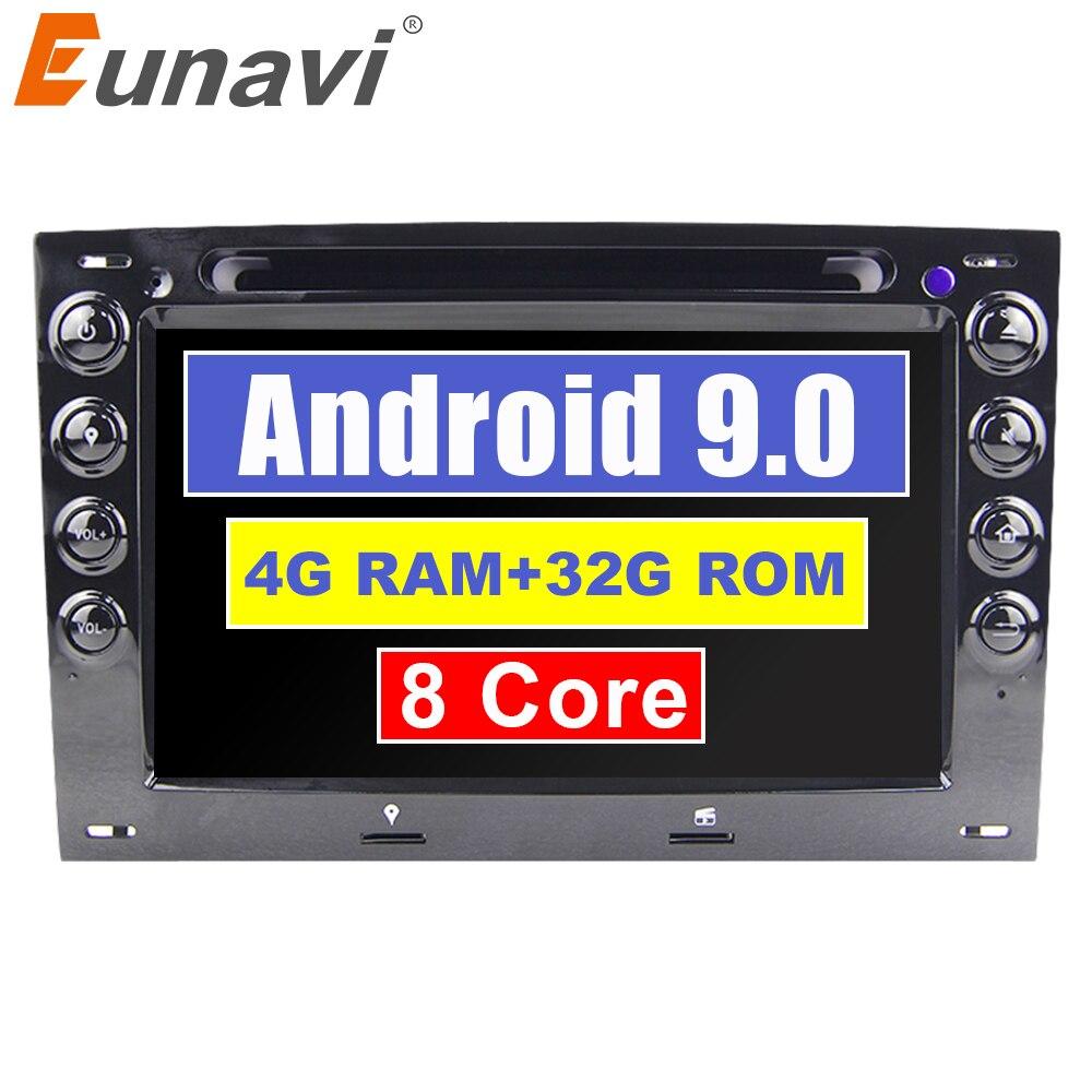 7 Eunavi ''4 GB RAM Octa núcleo Android 9.0 2 Rádio Do Carro DVD Player para Renault Megane ii 2006 2007 2008 2009 2010 com BT Wifi GPS