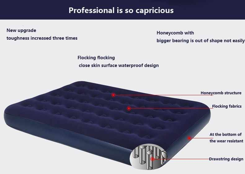 Portable Inflatable Bed Velvet Warm Soft Beds Multifunction Erotic Sexy Love Bedroom Furniture With Pump Outdoor Travel Air Beds