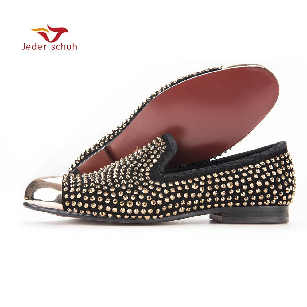 Новый золотой носком и золотой кристалл мужские лоферы Модные мужские кожаные тапочки Мужская обувь для вечеринки и свадьбы обувь мужская