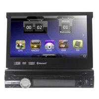 Бесплатная 8 г карты включают в себя! одноместный Дин dvd-плеер 7 дюймов моторизованный сенсорный GPS навигации dvd-плеер fm/am приемник USB SD DVR