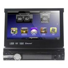 Бесплатно 8 Г карты включают! Одноместный Din Dvd-плеер Автомобиля 7 дюймов моторизованный Сенсорный Экран Gps-навигация Dvd-плеер FM/AM Приемник USB SD DVR